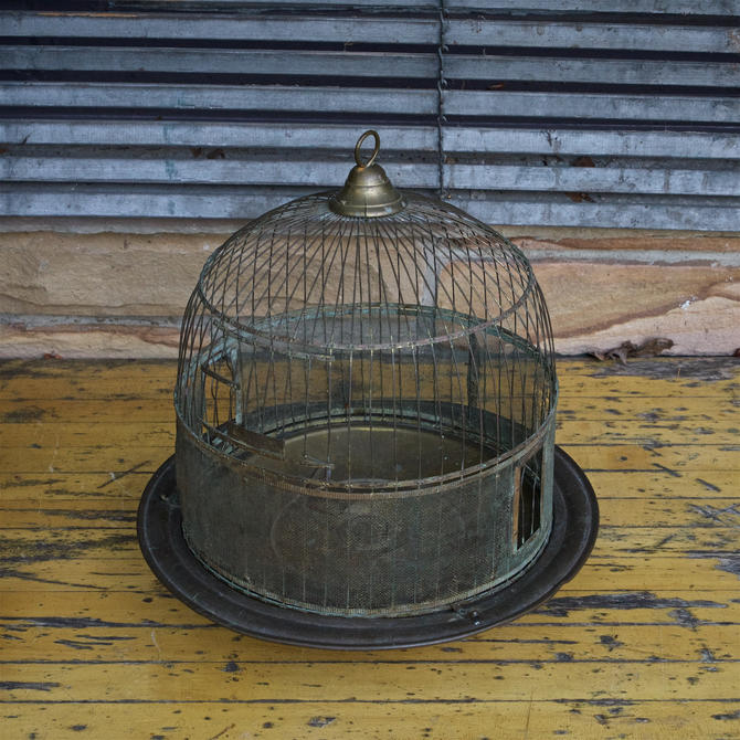 1900s Victorian Antique Bird Cage Stand Display Vintage Prop Haberdashery  Boutique Hanging or Tabletop by BrainWashington
