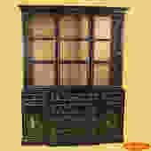 Black Pagoda Handpainted Cabinet