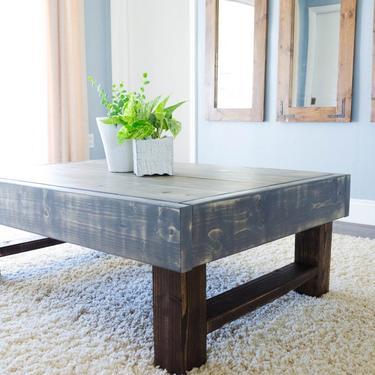 Rustic Coffee Table, Farmhouse Table, Farmhouse Coffee Table by ArcherHomeDesigns