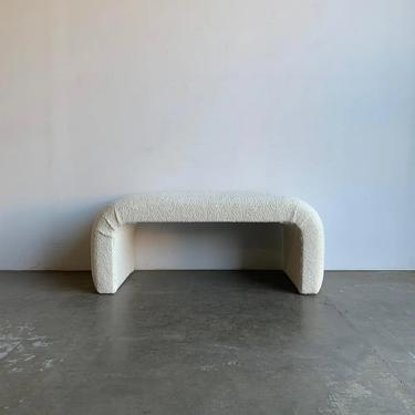VOP waterfall bench in Sherpa by VintageOnPoint