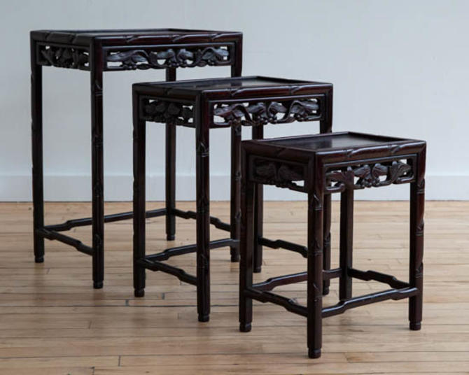 Chinese Carved Nesting Tables