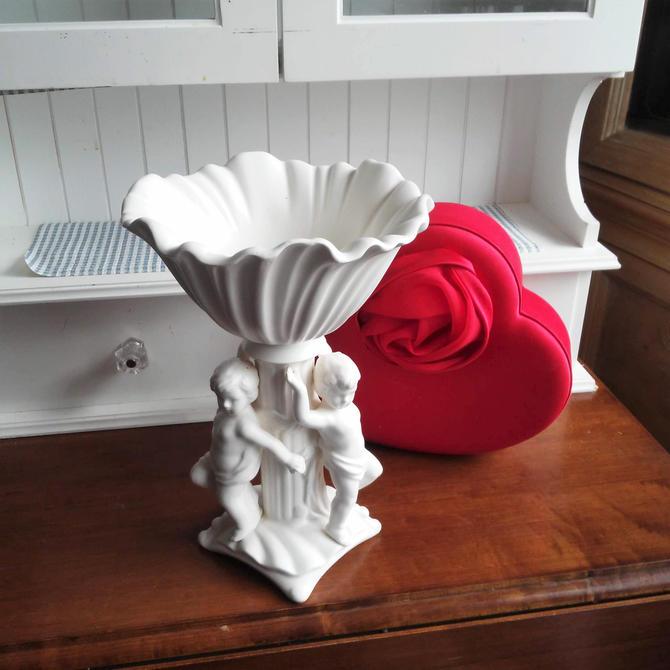 VINTAGE Inarco Cherub Planter, Victorian, Shabby Chic, Valentine Gift by 3GirlsAntiques