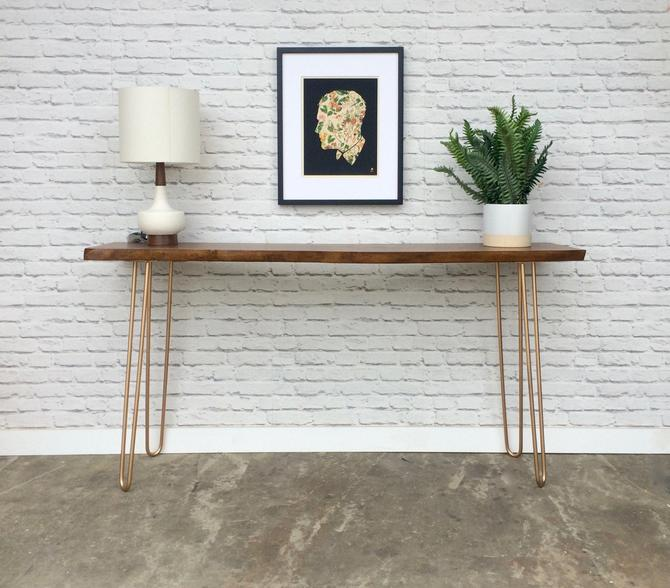 Live Edge Cherry Console Table by STORnewyork