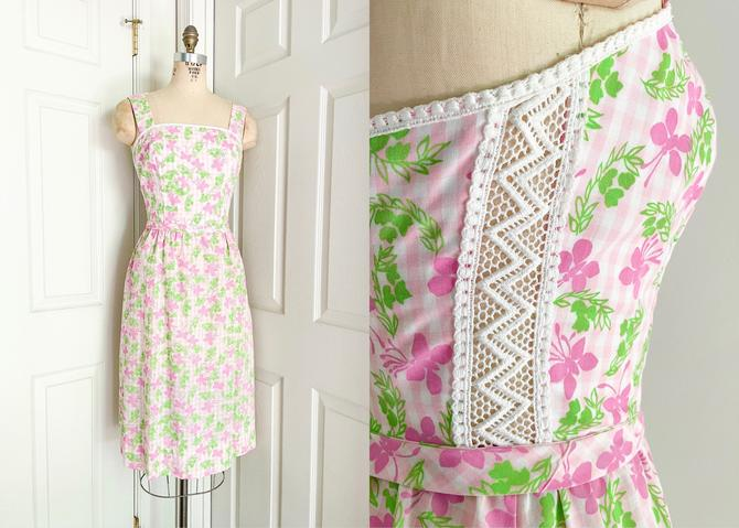 1970s The Lilly Pink + Green Butterfly Dress Lilly Pulitzer by hemlockvintage