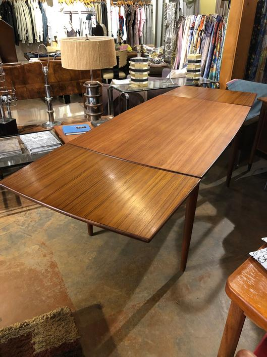 Danish Modern Teak Dining Table - Expands by bcdrygoods