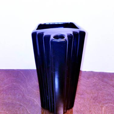 Art Deco Heavy Ceramic Pitcher by MOBvintage