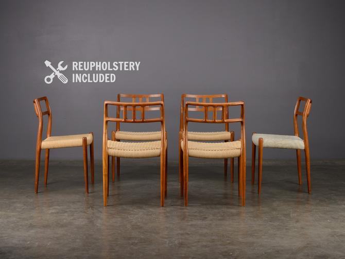 6 Møller Model 79 Dining Chairs Teak Mid Century Danish Modern by MadsenModern