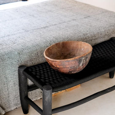 Black Moroccan Bench by CangguHome