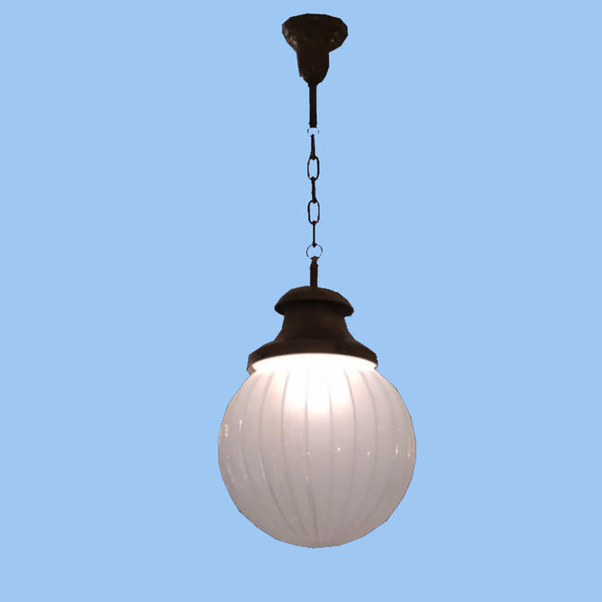 Large Fluted Ball Pendant