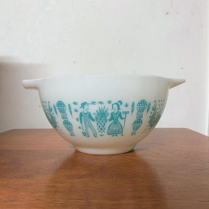 Vintage Pyrex Butterprint Cinderella Mixing Bowl 441 by OverTheYearsFinds