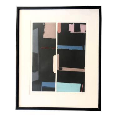 "Abstract Silk Screen Print ""Winter"""