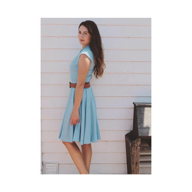 Vintage 1960's blue A-line dress. by MamaTequilasVintage