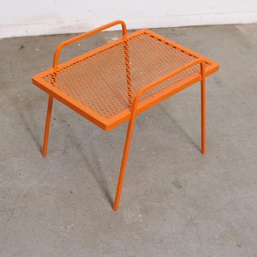 Vintage Mid-Century Modern Atomic Orange Metal  End Table by AnnexMarketplace