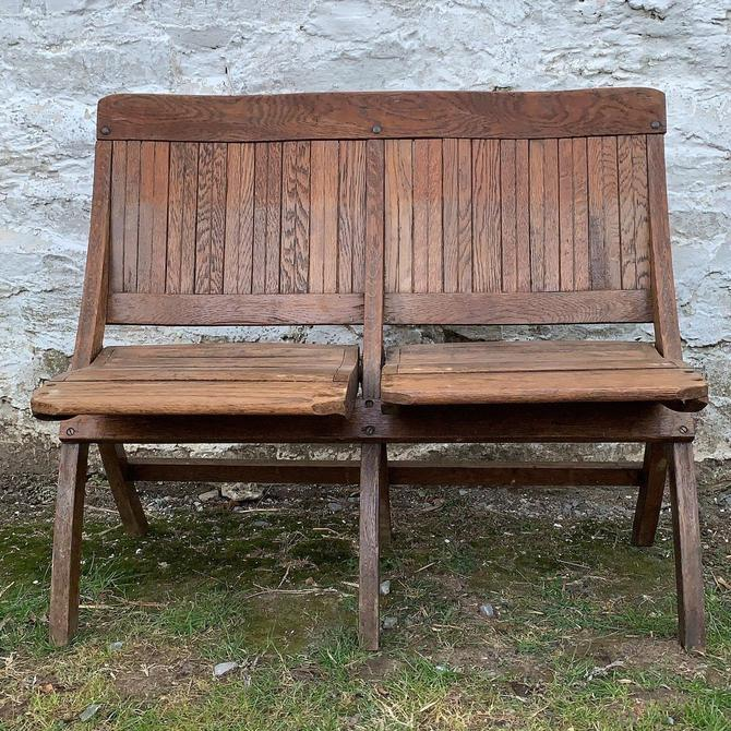 Seating for Two! Wood Folding Picnic/Theater Chairs