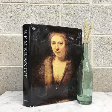 Vintage Rembrandt Paintings Book Retro 1960s Horst Gerson + Dutch Golden Age Painter + Artist + Classic Art Illustrations + Hardcover by RetrospectVintage215