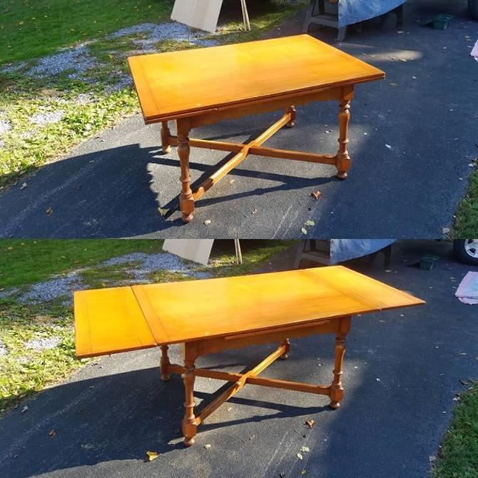"""Maple Drawleaf Table, 36""""x54"""". Opens to 82"""" length."""
