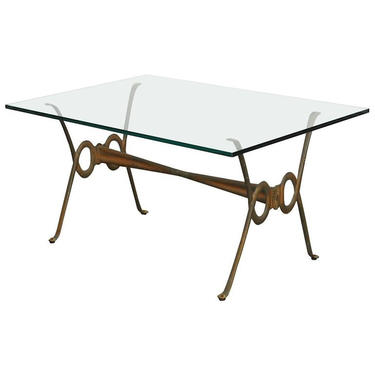Maison Bagues Style French Bronze Coffee Cocktail Table by ErinLaneEstate