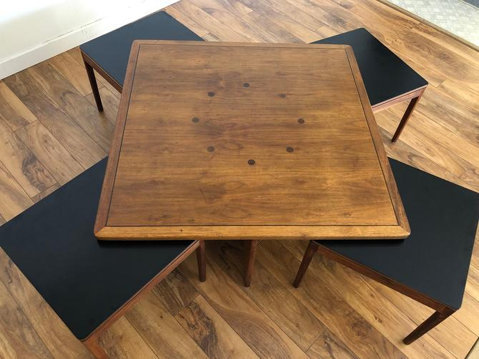 Drexel Declaration Coffee Table with Nesting Tables by Vintagefurnitureetc