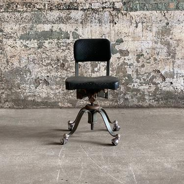 Vintage Remington Rand Adjustable Industrial Rolling Office Chair by NorthGroveAntiques