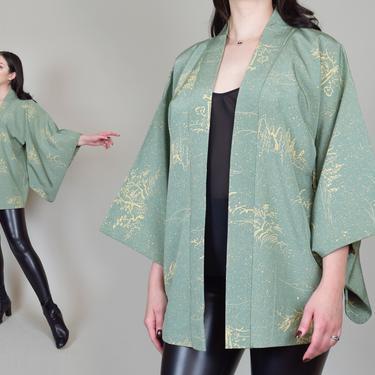 Vintage Haori Kimono Jacket | Silk Crepe Haori Jacket by WisdomVintage
