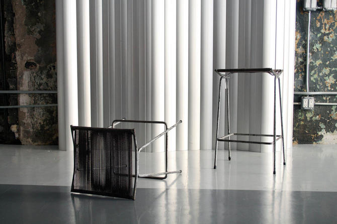 Pair of Rope Stools by Allan Gould