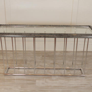 Modern Cerused Console / Sofa Table