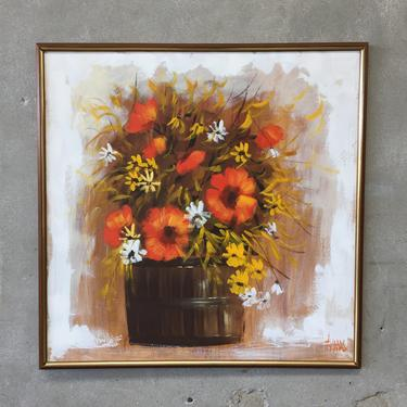 1970's Flower Painting