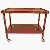 Danish Modern Teak Compact Bar/Serving Cart
