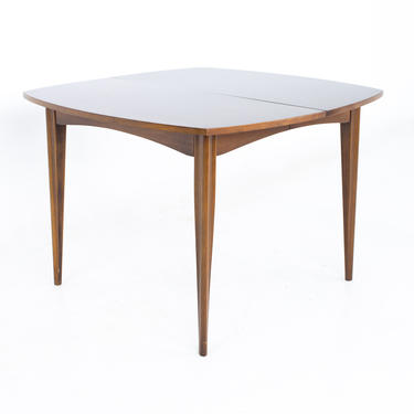 Broyhill Emphasis Mid Century Walnut Surfboard Expanding Dining Table - mcm by ModernHill