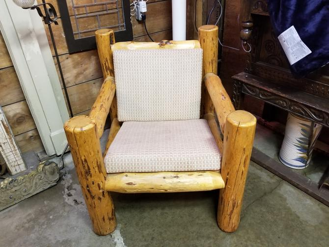 Beautiful Misty Mountain Furniture Co. Natural Log Chair