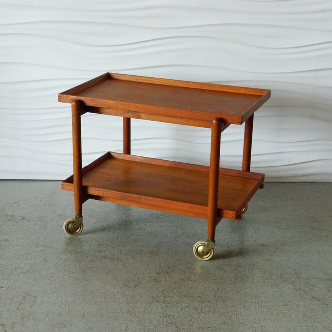 Danish Teak Tea/Bar Cart