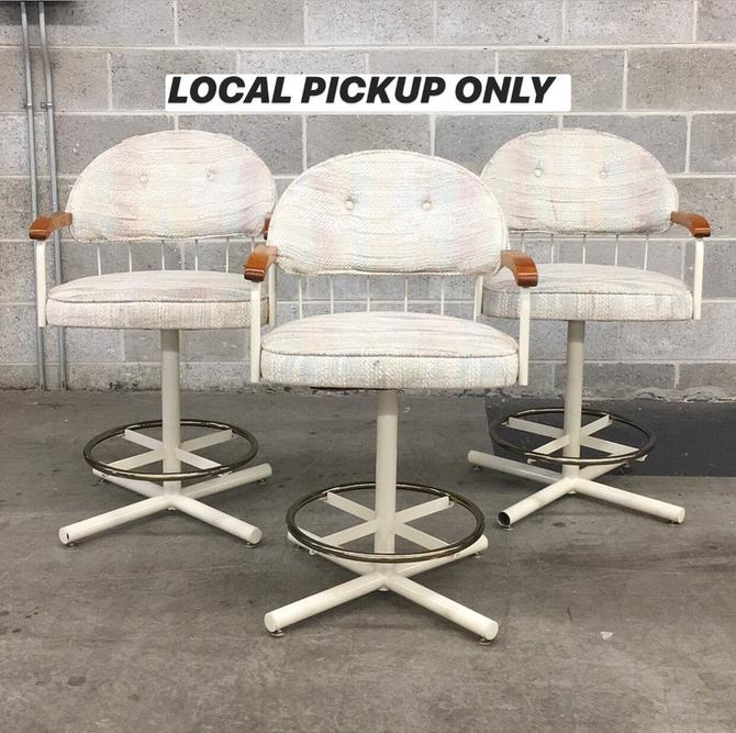 LOCAL PICKUP ONLY ———— Vintage Bar Chairs by RetrospectVintage215