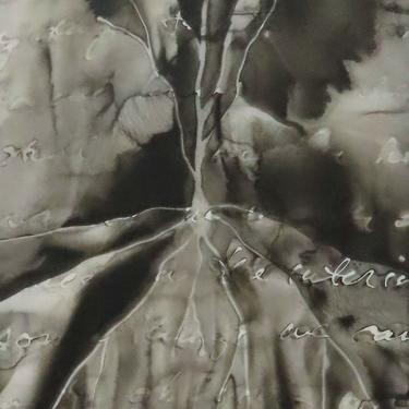 Touchstones: Original ink painting on yupo of neurons - neuroscience art literature Murakami by artologica