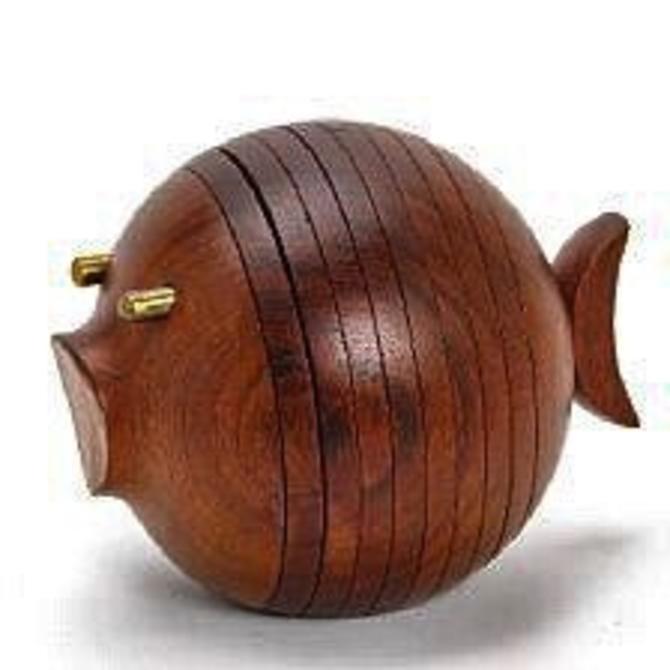 Ernst Henriksen Puffer Fish 1960s Denmark by CaribeCasualShop
