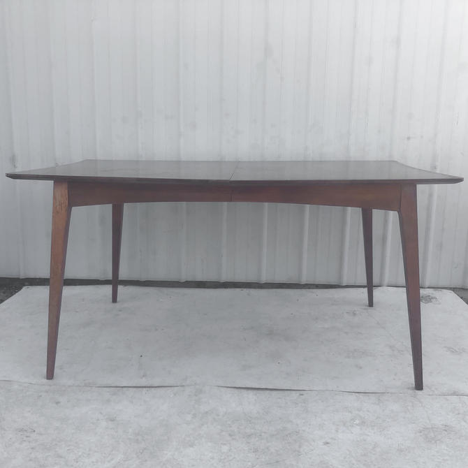 Mid-Century Modern Dining Table With Leaf by secondhandstory