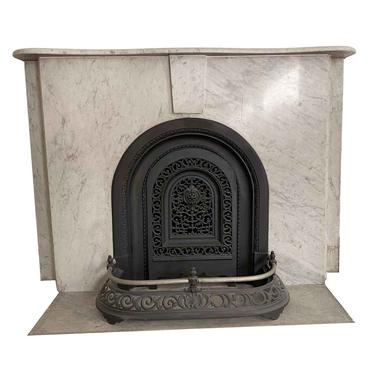 Simple Arched NYC Townhouse Carrara Marble Mantel