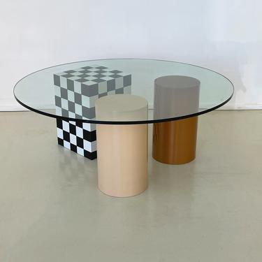 Round Coffee Table by Color Bars