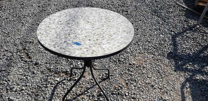 Tile top table.  Heavy duty
