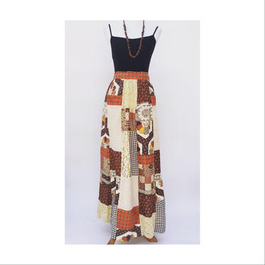 1960's patchwork skirt vintage by MamaTequilasVintage