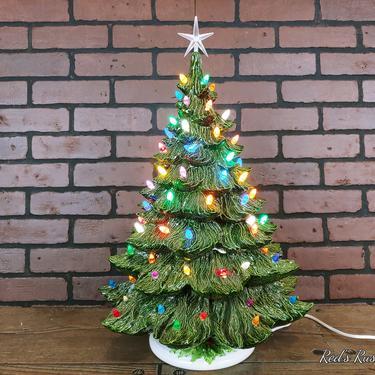 "Vintage 22"" Ceramic Christmas Tree by RedsRustyRelics"