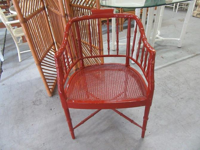 Faux Bamboo Occasional Chair