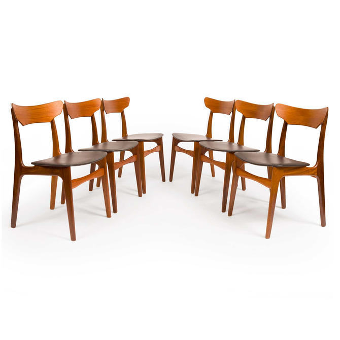 Vintage Danish Mid-Century Teak Dining Chairs  by Schiønning & Elgaard by MCMSanFrancisco