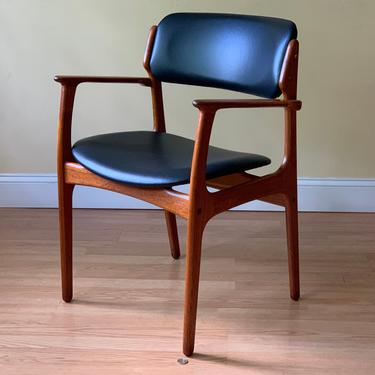 ONE Erik Buch Model #50 dining chair in solid teak (Erik Buck) Dining Armchair by OD Mobler, desk chair by ASISisNOTgoodENOUGH