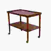 Teak Bar Cart Rolling tea cart danish modern by HearthsideHome