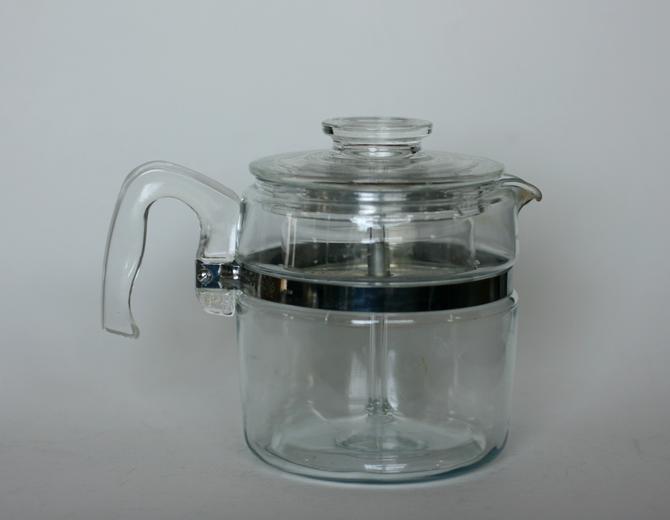 vintage Pyrex 6 cup percolator all components included by suesuegonzalas