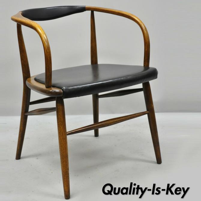 Vintage Mid Century Modern Oak Barrel Back Danish Modern Chair After Hans Wegner