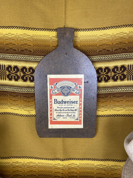 Vintage Budweiser Wall Hanging/Cutting Board by DesertCactusVintage