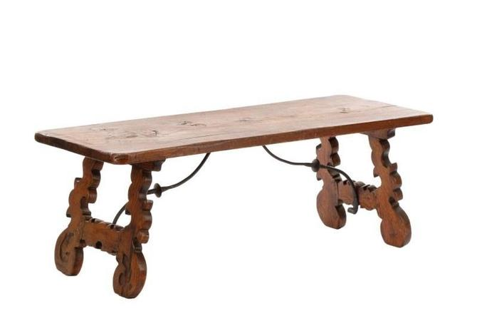 Antique Continental Baroque Style Refectory Table | Bench | Coffee Table