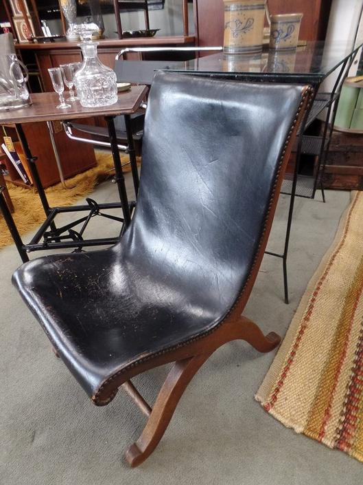 Pleasing Vintage Leather Sling Chair Made In Spain Cjindustries Chair Design For Home Cjindustriesco