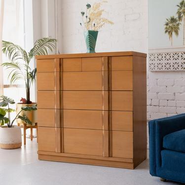 High Boy 6-Drawer Blonde Dresser